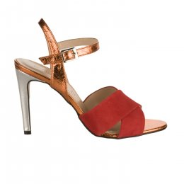 Nu pieds femme - BORGOROMA - Rouge