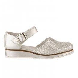 Chaussures à lacets femme - REGARD - Gris argent