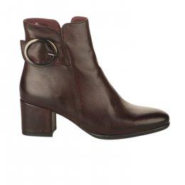 Boots femme - MIGLIO - Rouge bordeaux