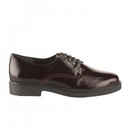 Chaussures à lacets femme - MIGLIO - Rouge bordeaux verni