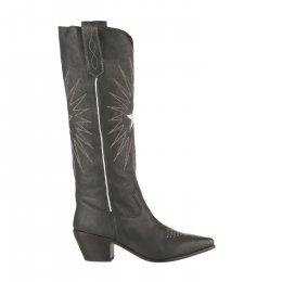 Boots Santiag femme - MIGLIO - Gris bleu