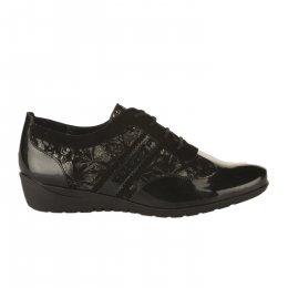 Chaussures à lacets femme - METAYER J - Noir