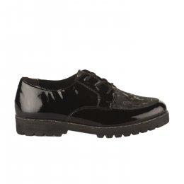 Chaussures à lacets femme - REMONTE - Noir verni