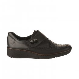 Chaussures à lacets femme - RIEKER - Noir