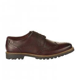 Chaussures à lacets homme - BASE LONDON - Rouge bordeaux