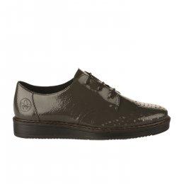 Chaussures à lacets femme - RIEKER - Gris verni