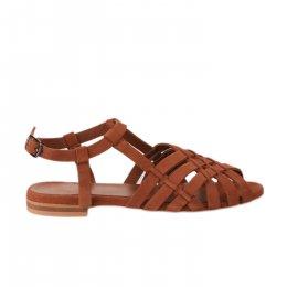 Nu pieds femme - MIGLIO - Rouge brique