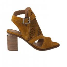 Nu pieds femme - ALPE - Jaune