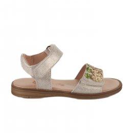 Nu-pieds fille - ACEBOS - Beige dore