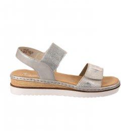 Nu pieds femme - RIEKER - Blanc argent