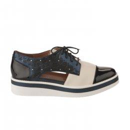 Chaussures à lacets femme - MAM'ZELLE - Bleu marine