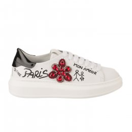 Baskets mode fille - GIO+ - Blanc