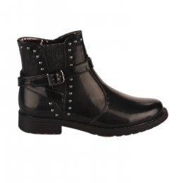 Boots fille - ASSO - Noir verni