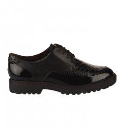 Chaussures à lacets femme - TAMARIS - Noir verni