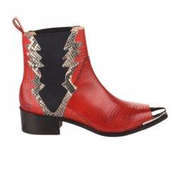 Boots femme - MELVIN & HALMILTON - Rouge