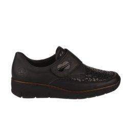 Chaussures de confort femme - RIEKER - Noir