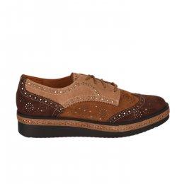 Chaussures à lacets femme - MAM'ZELLE - Marron