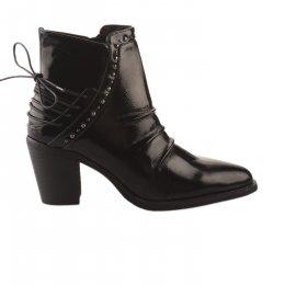 Boots femme - REGARD - Noir verni