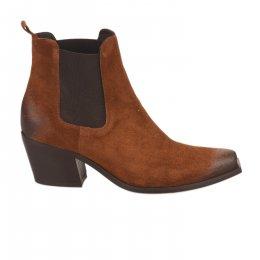 Boots femme - MIGLIO - Marron cognac