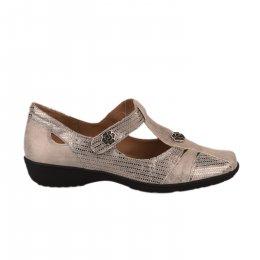 Chaussures de confort femme - GEO REINO - Gris argent
