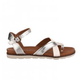 Nu pieds femme - BUENO - Blanc argent