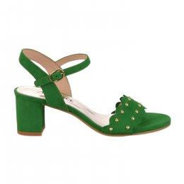 Nu pieds femme - MYMA - Vert