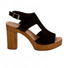 Nu pieds femme - MYMA - Noir
