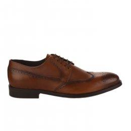 Chaussures à lacets homme - FIRST COLLECTIVE - Marron cognac