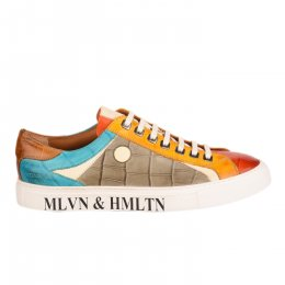Baskets homme - MELVIN & HALMILTON - Orange