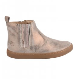 Boots fille - SHOO POM - Beige dore