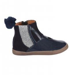 Boots fille - GBB - Bleu marine verni