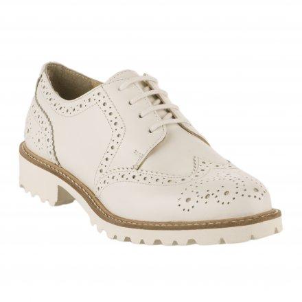 cb1b438d5eec7 Chaussures à lacets femme - Blanc Kickers