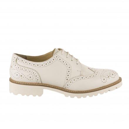 055ac485e5788 Chaussures à lacets femme - KICKERS - Blanc ...